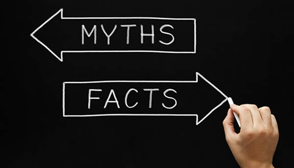 image of facts and myths sign