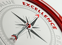 image of compass pointing to excellence