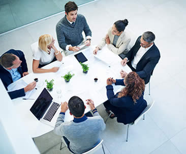 image of group of people meeting